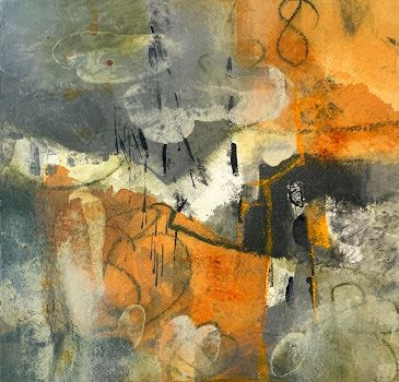 "Abstract Art, Contemporary Painting, Expressionism, ""83 Daze"" by Contemporary Artist Tracy Lupanow"