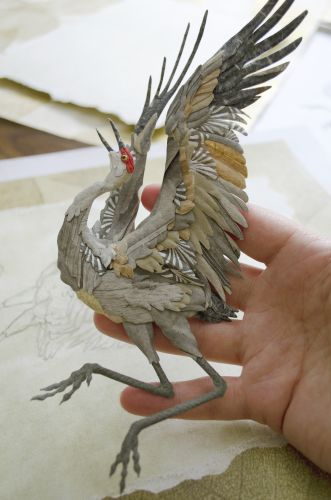 Carefully Molded Paper is Shaped into Personality-Filled Animal Portraits by Tiffany Miller Russell