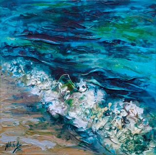 "Just Sold - ""Tidal Flow"" 4 by Palette Knife Artist Niki Gulley"
