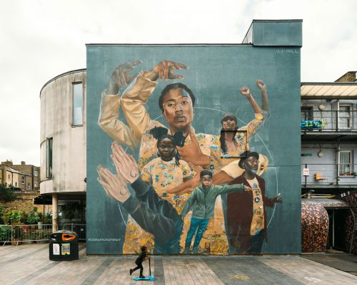 """""""Gestures of a Square"""" by Li-Hill in Dalston, East London"""