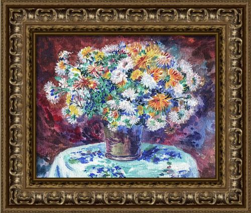 Chrysanthemum Flowers Bouquet Renoir Style Study