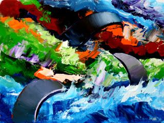 Mark Webster - Abstraction 12 - Abstract Landscape Oil Painting
