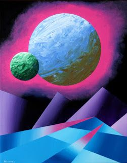 Mark Webster - Planet X Abstract Landscape Painting