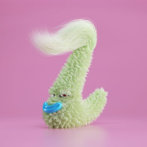Mischievous Monsters Smirk and Grin in Fuzzy Alphabet Collection by Jose Arias