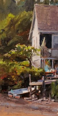 """Apple Tree Cove"" by Robin Weiss, ""Impressions of Kitsap County"" Roby King Gallery"