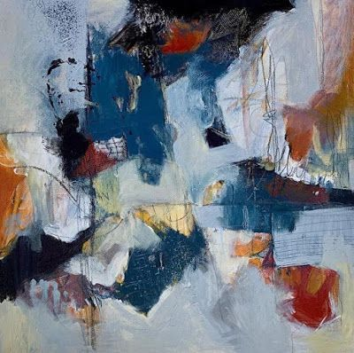 """Expressionism, Contemporary Painting, Abstract Art For Sale """"SEEN"""" by Contemporary Artist Liz Thoresen"""