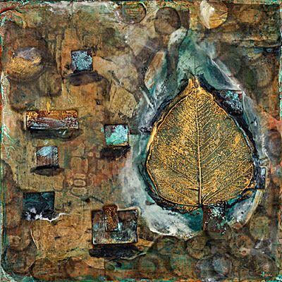 "Mixed Media Abstract Painting ""LIFE FORCE"" by Santa Fe Contemporary Artist Sandra Duran Wilson"