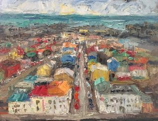 New Reykavik Oil Painting by Contemporary Impressionist Niki Gulley