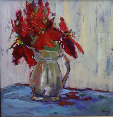 Impressionist Floral Painting, Still Life Fine Art Oil Painting