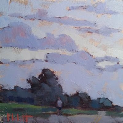 Evening Run Original Art Heidi Malott Landscape Painting