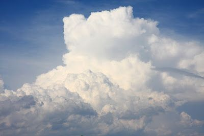 What happens to light in clouds?