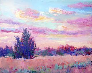 Rising Light, New Contemporary Landscape Painting by Sheri Jones