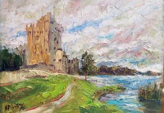 """Ross Castle"" Oil Painting from Ireland by Niki Gulley"