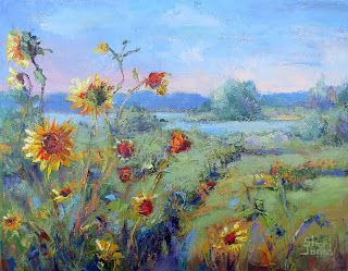 Nature's Wild Garden, New Contemporary Landscape Painting by Sheri Jones