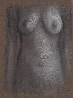Frontal torso and side female nude sk