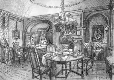 Dennis Severs House drawings