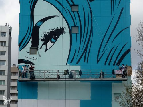 """""""Fornever"""" Work in progress by D*Face in Paris"""
