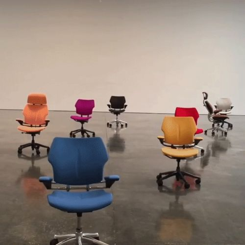 Modified Office Chairs Perform an Autonomous Dance Through Gagosian Gallery