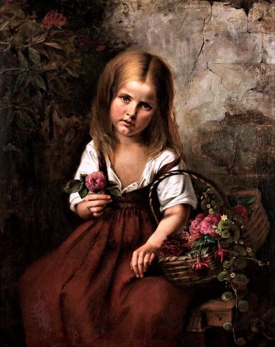 Celebrating The Earth's Beauty - Young Flower Seller