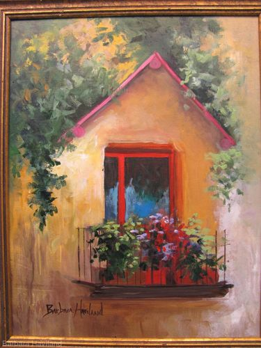 Window Balcony,oil painting,Barbara Haviland