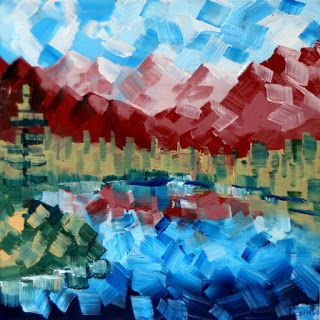 Mark Webster - Abstract Landscape Oil Painting 7-23-10