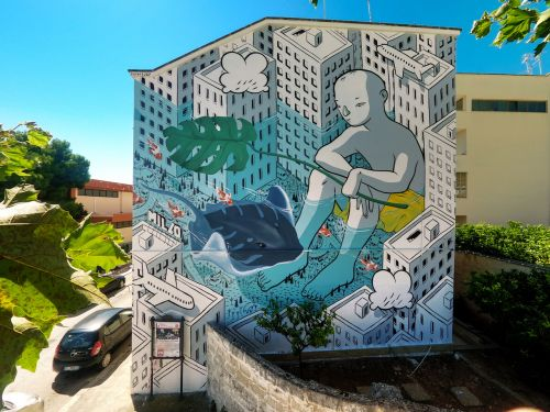 """Beyond the Sea"" by Millo in Monopoli, Italy"