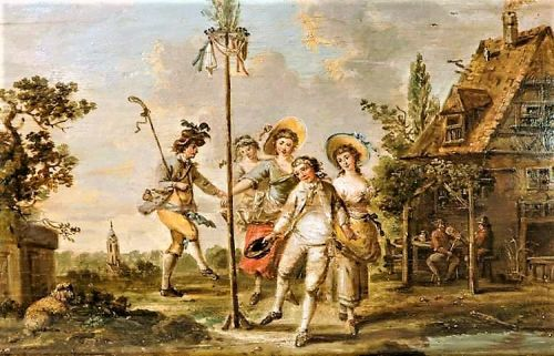 18C MAYPOLE at a Country Inn