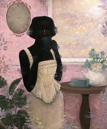 Elegantly Subversive Paintings Position Somber Women in the Throes of Domestic Struggle