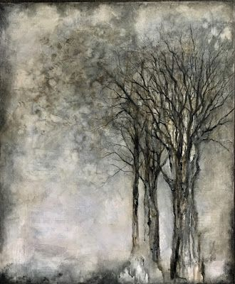 In the Silence, Original Mixed Media Painting by Colorado Artist, Donna L. Martin
