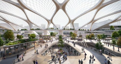 UNStudio Shares Vision for Tessellated Hyperloop Station