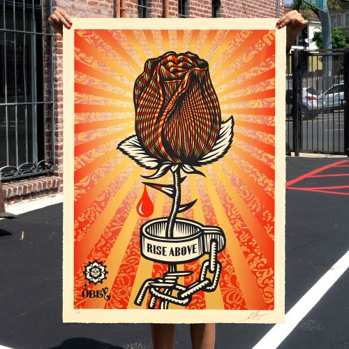"""Shepard Fairey """"Rose Shackle"""" Print Release - August 13th"""