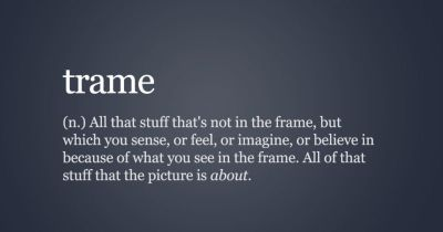 On 'Trame', or Everything Outside the Frame that a Photo is About