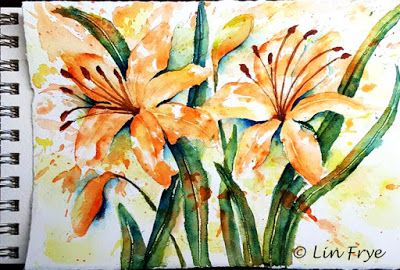 Journal - Daylilies - Splash and Splatter - Lin Frye