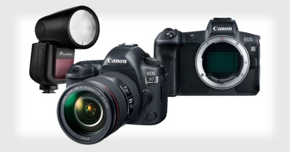 Get 35% Off the Canon 5D Mark IV or EOS R. and a Free Godox V1