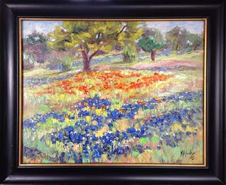 "New ""Over the Hills III"" Bluebonnet Painting by Texas Artist Niki Gulley"