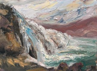 Painting Iceland by Contemporary Impressionist Niki Gulley
