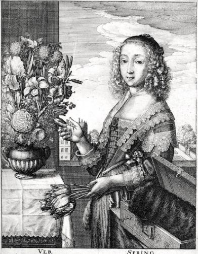 17C Spring by Wenceslaus Hollar (1607-1677)