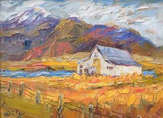 """New """"Rural View II"""" Palette Knife Painting by Niki Gulley"""