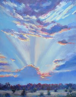 Glow of Morning Light, New Contemporary Landscape Painting by Sheri Jones