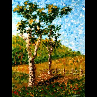 Mark Webster - Impressionist Tree Landscape Acrylic Painting