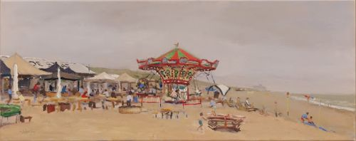 DeStaat with Merry-go-round on the beach
