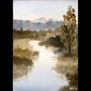 Mark Webster - Grayscape 9 - Landscape Oil Painting