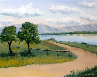 Mark Webster - Princess Vlei Lake - Cape Town - South Africa Oil Painting