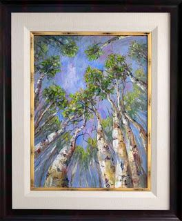 New Summer Aspen Tree Painting by Texas Artist Niki Gulley