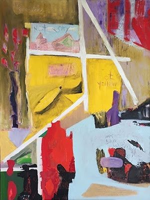 "Contemporary Art, Abstract,Expressionism, Studio 9 Fine Art ""Not Yellow"" by International Abstract Artist Amanda Saint Claire"