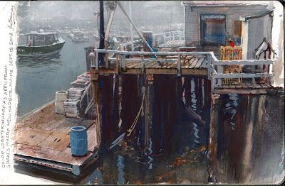 Painting a Lobster Wharf