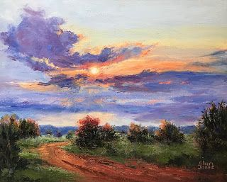 Behind Every Cloud, New Contemporary Landscape Painting by Sheri Jones