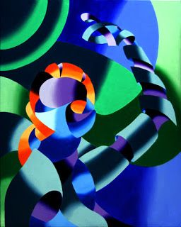 Mark Webster - Ximon - Abstract Futurist Figurative Oil Painting