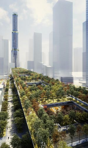 "Rogers Stirk Harbour + Partners' Sky Garden will be an ""Urban Living Room"" for Shenzhen"