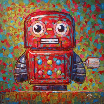 Wind Up Tin Toy Robot Four
